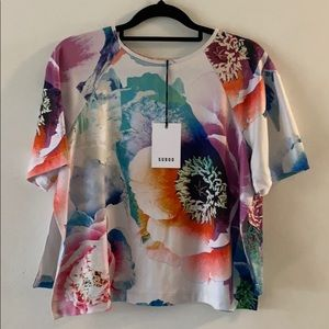 SUBOO Women's Sz 6 Hybrid Peony Tee Floral NWT